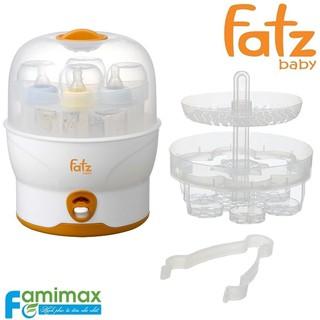 Máy tiệt trùng bình hơi nước BPA free Fatzbaby FB4019SL, tiệt trùng 6 bình sữa một lúc