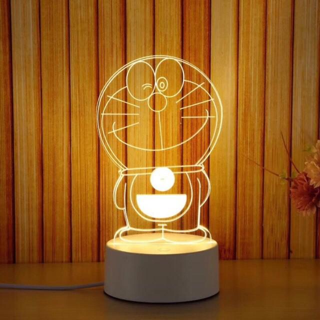 Đèn ngủ led 3D DORAEMON, đèn trang trí, quà tặng sinh nhật độc đáo