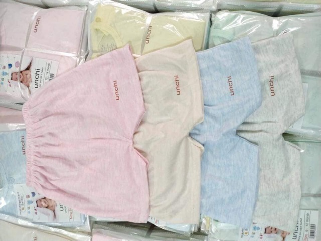 BỘ Cotton UNCHI Cúc Giữa cho bé từ 5-15kg