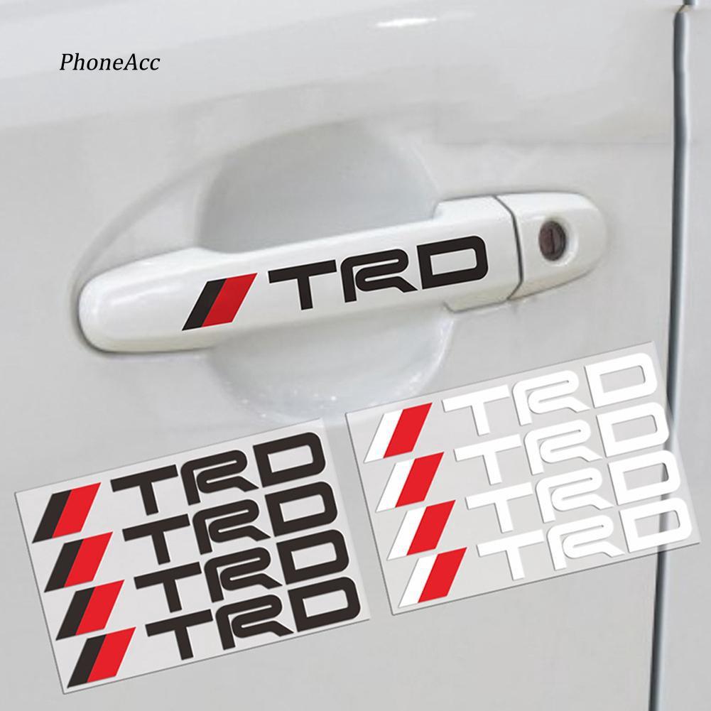 Bộ 4 miếng dán Logo cửa phản quang dùng để trang trí ô tô