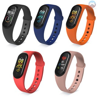 Ê M4 Smart Band Sports Tracker Fitness Bracelet Heart Rate Blood Pressure Sleep Monitor Body Temperature Measure Color Display