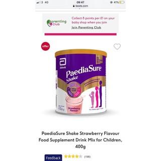 Sữa PediaSure Shake cho các bé