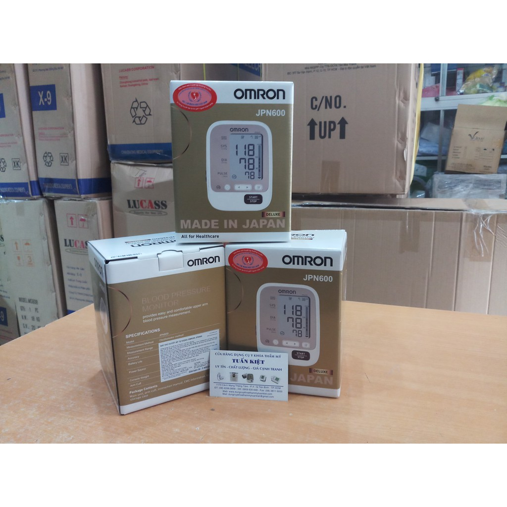 Máy đo huyết áp bắp tay Omron JPN600 Made in Japan