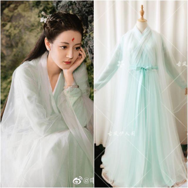 Trang phục cosplay Phượng Cửu 《Cổ Phong Y Nhân Các》 Địch Lệ Nhiệt Ba ZSSYF03B | cổ trang Trung Quốc | Chẩm Thượng Thư