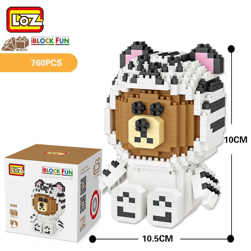 Lego mini LOZ-9789 NLG0001-89 Đồ chơi xếp hình, lắp ráp