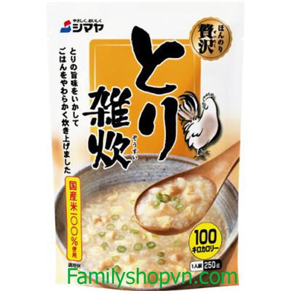 Cháo Hoàng Gia Nhật Bản ăn liền 250g đủ vị cua, gà, cá, trứng, nấm