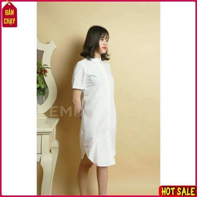 [ Top Hot ] Váy sơ mi suông siêu đẹp ,chất liệu bền đẹp, hàng cao cấp, mặc thoải mái H1