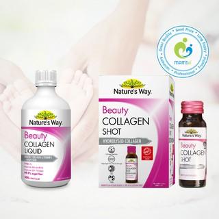 Collagen thủy phân nước (10x50ml) (500ml) có hạt nho và vitamin E Nature s Way Beauty Collagen Shot Liquid, Úc thumbnail