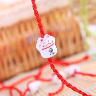 Vòng tay chỉ đỏ mèo may mắn Maneki Neko bằng sứ cao cấp thiết kế tinh xảo BBShine J062 thumbnail