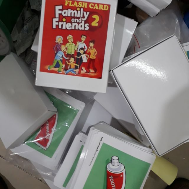 Thẻ Flashcard family and friends starter, 1,2 khổ A5 2 mặt