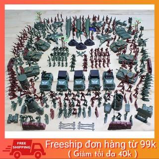 FREESHIP 99K TOÀN QUỐC_Set Bộ Đồ Chơi 300+ Chi Tiết Mô Hình Lính Nhựa War Force Quân Đội