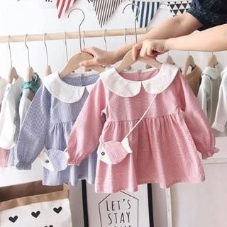 💥 XINH QUÁ 💥 Váy cổ sen cho bé gái - váy kẻ caro