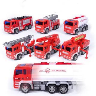 Đồ chơi Bộ xe cứu hỏa cho bé 6 xe màu đỏ đủ món cứu hỏa, nhựa ABS an toàn cho trẻ thumbnail