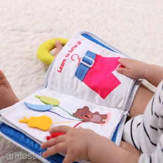 Infant Baby Good Night Cloth Book Cognize Intelligence Development Toy