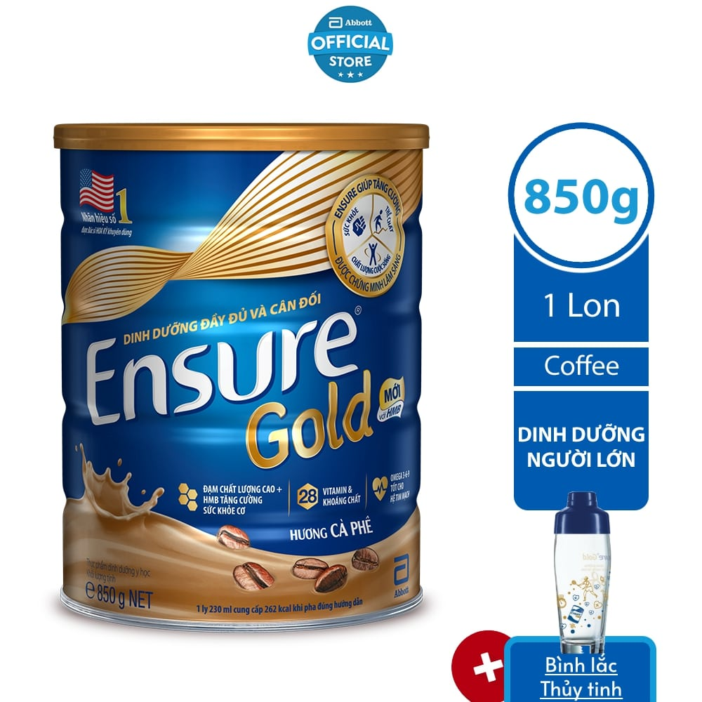 Sữa bột Ensure Coffee 850G/lon