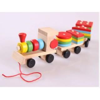 Đoàn tàu hỏa thả hình bằng gỗ