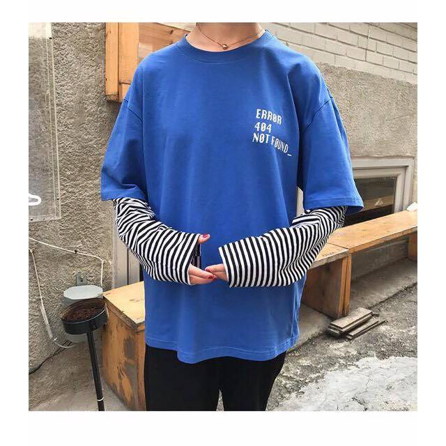 Áo thun tay dài 404 xanh