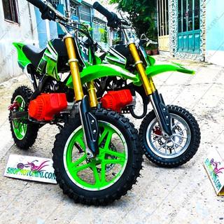 Xe cào cào mini 50cc ( Bánh Lớn ) màu xanh lá | moto tam mao chạy bằng động cơ xăng pha nhớt 2 thì