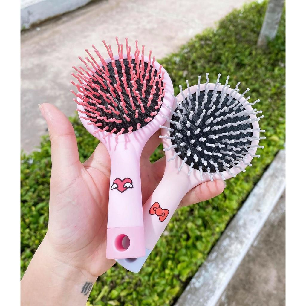 Gương lược chải tóc 2in1 - Lược kèm gương | Shopee Việt Nam