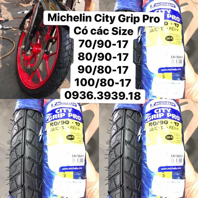 Vỏ xe Michelin city grip Pro ! Full size ! Mua lẻ giá sỉ