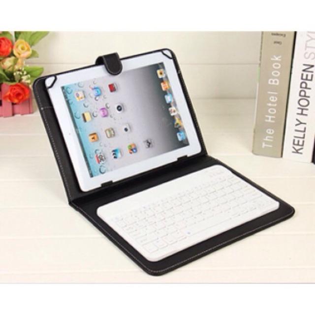 Bộ sản phẩm bao da bàn phím cho máy tính bảng kèm chuột bluetooth cổng OTG