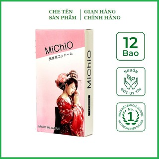 Bao cao su Gân gai siêu mỏng Michio Nhật Bản - hộp 12 chiếc thumbnail