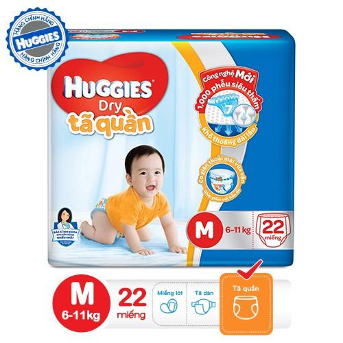 Tã quần HUGGIES DRY PANTS M22 (5-10kg) - Gói 22 miếng- 4800060831400 - 3405070 , 526670324 , 322_526670324 , 125000 , Ta-quan-HUGGIES-DRY-PANTS-M22-5-10kg-Goi-22-mieng-4800060831400-322_526670324 , shopee.vn , Tã quần HUGGIES DRY PANTS M22 (5-10kg) - Gói 22 miếng- 4800060831400