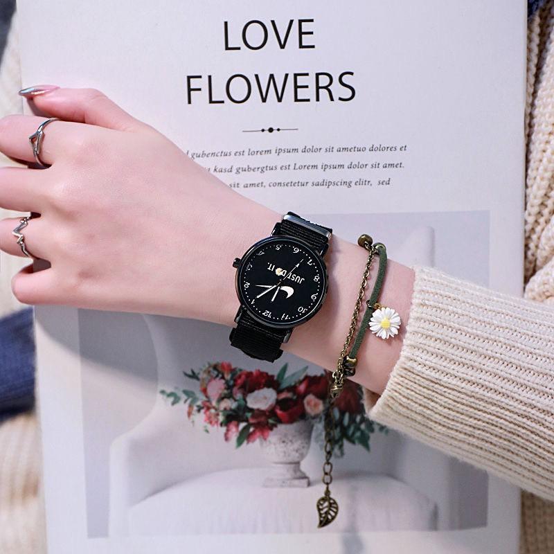 Đồng hồ nam nữ PeaceMinusone đeo tay thời trang hoa cúc DH105