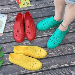 Giày nhựa thời trang nam nữ đi mưa, đi biển chất liệu nhựa xốp siêu nhẹ bền nhiều lỗ thoáng chân, nhiều màu GU2