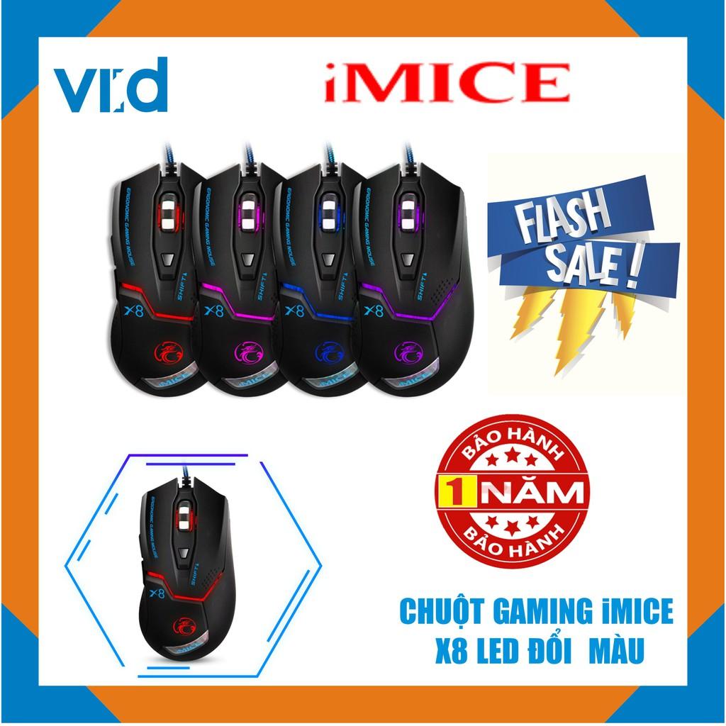 Chuột chuyên Gaming có dây iMICE X8