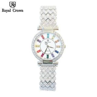 Đồng hồ nữ chính hãng Royal Crown 4604 dây đá vỏ trắng thumbnail
