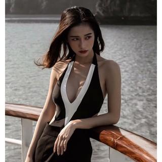 Bikini liền 1 mảnh đẹp sexy đen trắng mặc đi biển ( Đảm bảo như hình 100%)