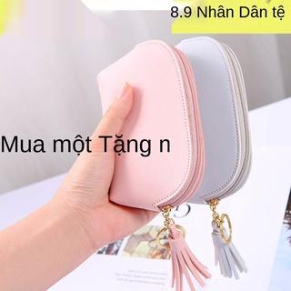 ví nhỏ nữ sinh dễ thương phiên bản Hàn Quốc ví đựng tiền xu túi đựng thẻ túi đựng tiền xu nhỏ túi đựng mỹ phẩm thumbnail