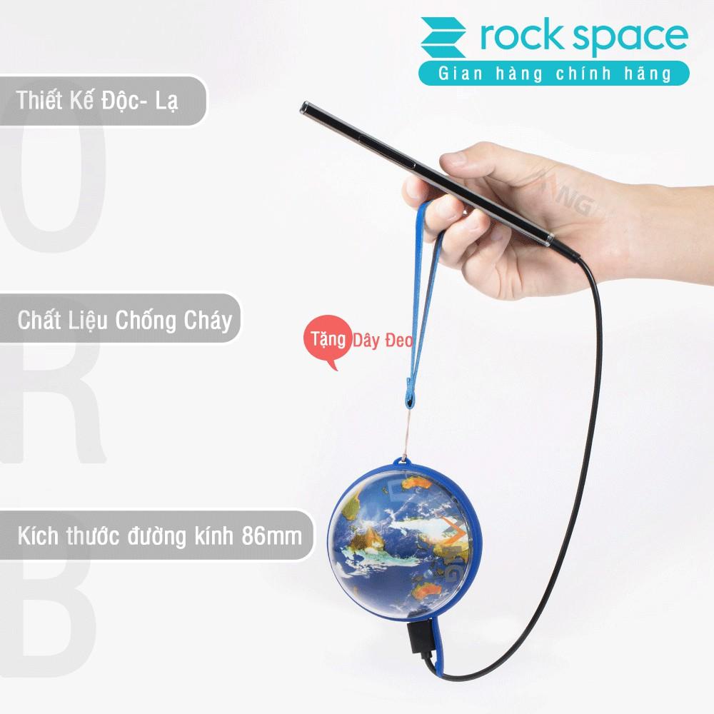 Combo Pin sạc dự phòng Rockspace 10000mAh và cáp sạc dây dẹt chống dối dành cho iphone