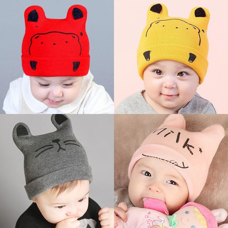 Nón len cho bé - Mũ len cho bé trai bé gái siêu cute