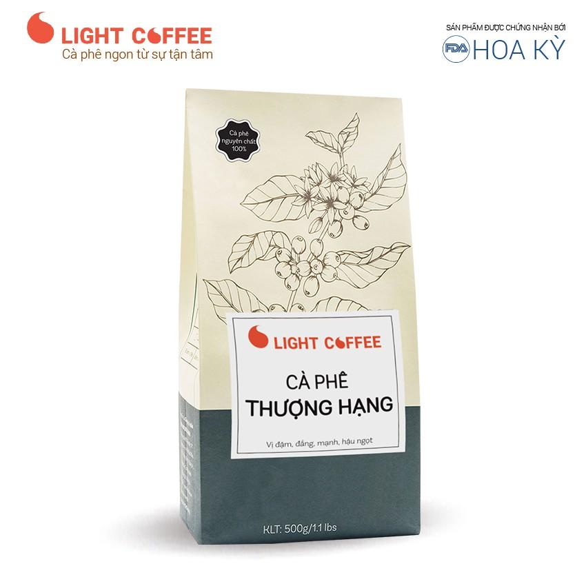 Cafe Thượng hạng Light Coffee gu đậm, đắng mạnh, hậu ngọt - Gói 500g