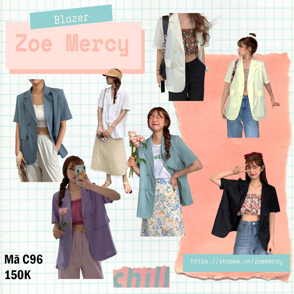 [SẴN]-Áo Blazer mỏng 1 lớp ngắn tay (C96)