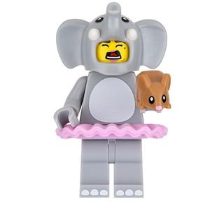 [Chính hãng, Sealed] Nhân Vật LEGO Minifigures Cô Gái Trang Phục Voi Elephant Girl 71021 Series 18