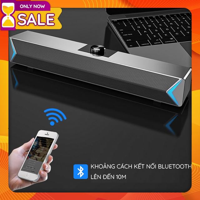 { HOT } Loa Thanh Siêu Trầm Bluetooth Gaming Soundbar Để Bàn Sada D6 Công Suất Lớn Dùng Cho Máy Vi Tính PC, Laptop, Tivi