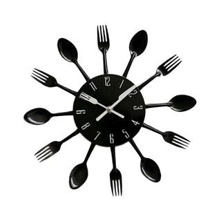 Đồng hồ 3D hình muỗng và nĩa dùng dán trang trí