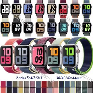 Dây đeo Apple Watch Strap 38/40mm 42/44mm bằng sợi nylon dệt mềm mại thoáng khí cho iWatch Series SE 6/5/4/3/2/1