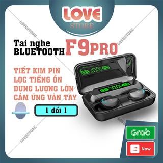 Tai Nghe Bluetooth Iphone Không Dây 5.0 Amoi F9 Pro Bản Quốc Tế Cao Cấp Nhất - Cảm Biến Vân Tay - Sạc Dự Phòng 2000mah