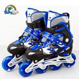 Giầy trượt patin Chất liệu giày da mềm, bóng đẹp; khung xương bánh xe làm bằng nhôm hợp kim chắc chắn,nhẹ,bềnva đập tốt.