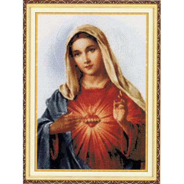 Tranh thêu chữ thập chưa thêu Sacred Heart of Jesus 2 (In Sẵn) A765