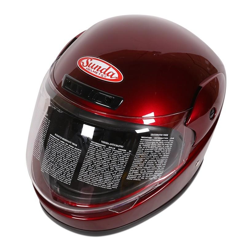 Mũ bảo hiểm Sunda 555 (Đỏ đô)