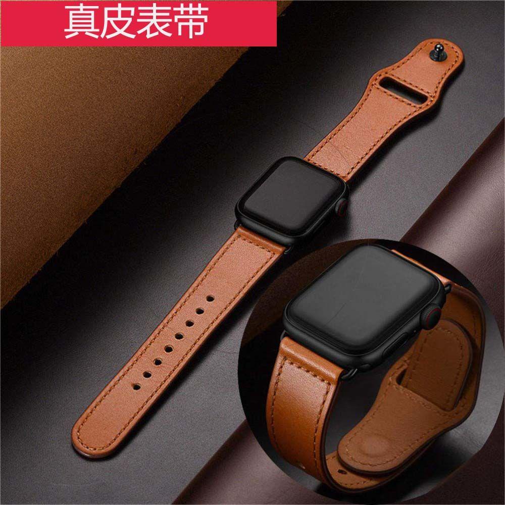 Dây đeo thay thế cho đồng hồ thông minh Apple Watch SE 654321Dây đeo thay thế bằng da thật cho đồng hồ thông minh 38 42 40 44