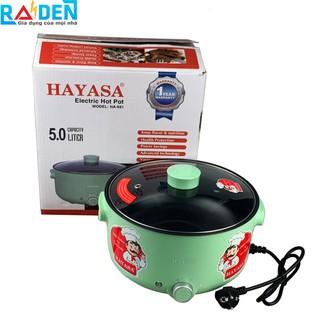 Nồi lẩu điện 5 Lít Hayasa HA-691 lòng nồi sâu có thể tháo rời vệ sinh