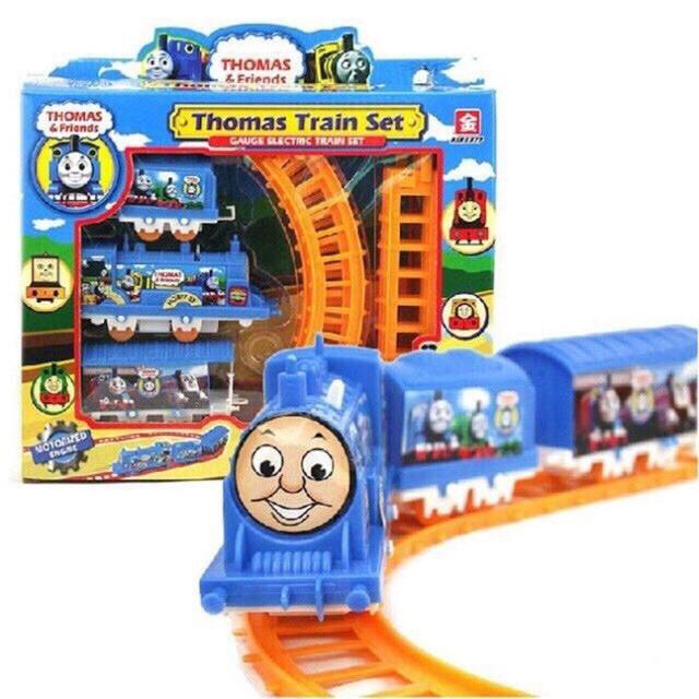 Đồ chơi đường ray tàu hỏa Thomas and friend 3 toa hàng đẹp (ảnh thật)
