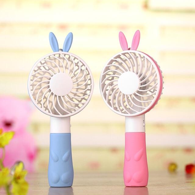 Quạt điện mini cầm tay tai thỏ cổng usb tiện dụng có sạc giá rẻ - 22855701 , 2245838571 , 322_2245838571 , 99000 , Quat-dien-mini-cam-tay-tai-tho-cong-usb-tien-dung-co-sac-gia-re-322_2245838571 , shopee.vn , Quạt điện mini cầm tay tai thỏ cổng usb tiện dụng có sạc giá rẻ