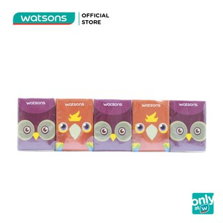 Lốc Khăn Giấy Bỏ Túi Watsons Velvety Soft Mini Hankies Parrot & Owl Mềm 10 Gói Nhỏ thumbnail